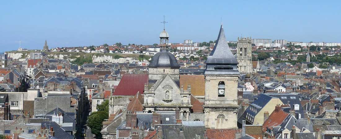 Dieppe, vue du Château-Musée