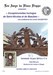 affiche horloge Saint Nicolas site