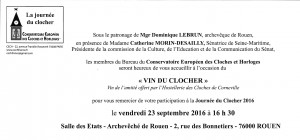 invitation Journée du Clocher
