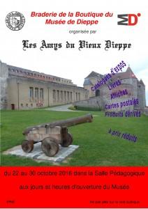 2016 Braderie de la Boutique du Musée de Dieppe
