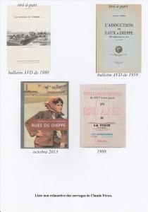 liste ouvrages Claude Féron (C)