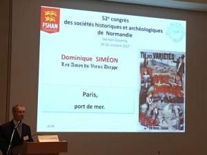 2)photo de la conférence de Dominique Siméon
