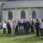 inauguration de la plaque Dumas près de l'église Saint-Aubin de Neuville-les-Dieppe (5)