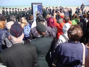 inauguration du nouveau monument sur la plage