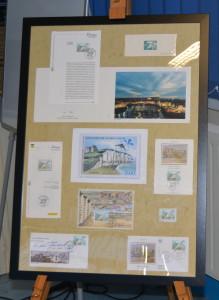petite exposition sur les timbres postaux dieppois et le lutrin de F Miellot présentés aux Amys et Amyes (1)
