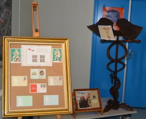 petite exposition sur les timbres postaux dieppois et le lutrin de F Miellot présentés aux Amys et Amyes (2)