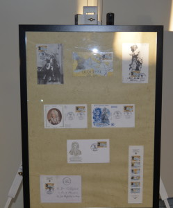 petite exposition sur les timbres postaux dieppois et le lutrin de F Miellot présentés aux Amys et Amyes (3)