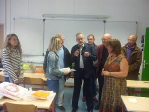 photos de la remise des prix du Forum des métiers au collège de Luneray (2)