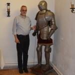 Hostellerie du château de Briquebec : accueil par  le Maître des lieux