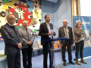 réception des congressistes en mairie (de gàd G Turquer, F Neveux, N Langlois, Y Begos, S Audigou)