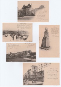 montage avec cartes postales-poèmes (2)