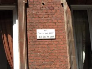 rue Asseline  en face de l'ancienne Caisse d'Epargne